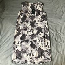 Next Floral Sleeveless Dip Hem Dress Size 8