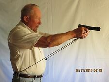 Pistol Master stabilizes the sight picture for the pistol shooter.
