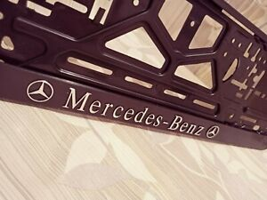 Black Mercedes-Benz HOLDER FOR EU EURO EU PLATFORM FLEXIBLE!