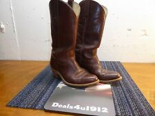 FRYE Cowboy Western Boots Rich Brown Leather Women's 9 D S05218 USA Excellent