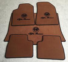 Autoteppich Fußmatten Kofferraum Set für Alfa Romeo Giulietta Cognac Vel. 5tlg.