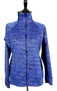Columbia~Blue L/S Full Zip Running Athletic Jacket w/Pockets~Womens L ~ EUC