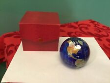 "Alexander Kalifano World Earth Globe 3/"" Paperweight NIB Beautiful"