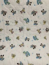 Dundee Vintage Mickey Mouse & Friends Crib Quilt/ Conforter W/ Zipper