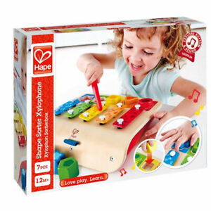 Hape Shape Sorter Xylophone and Piano - Wooden Instrument Toy