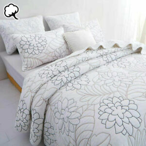 100% Cotton Lightly Quilted Coverlet Set Eliana