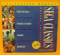 Sega Classics  - Sega CD Instruction MANUAL ONLY - No Game !!