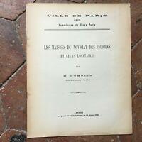 Dumolin LES MAISONS DU NOVICIAT DES JACOBINS et leurs locataires 1929