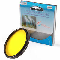 52mm Full Yellow Color Circular Filter for Canon Nikon Sony DSLR Camera Lens M52