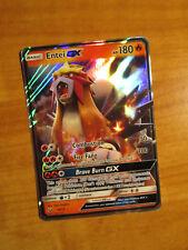 NM Pokemon ENTEI GX Card SHINING LEGENDS Set 10/73 Sun Moon SM Ultra Rare TCG