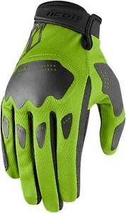 Icon Hooligan Gloves - Motorcycle Street Bike Riding Leather Mesh Touch Screen
