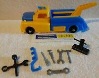 VINTAGE RARE!!! MARX WRECKER TOW TRUCK WITH BOX ,TRUCK, STICKERS,TOOLS,AUTHENTIC