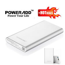 Poweradd 10000mAh Mobile Power Bank Battery Backup USB Port Charger  for Phone