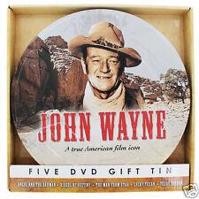 JOHN WAYNE TRUE 5 DVD FILM REEL COLLECTION TIN SET LUCKY TEXAN MAN FROM UTAH