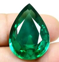 Colombian 41.25 Ct Natural Green Emerald Pear Cut Loose Gemstone Certified F0847