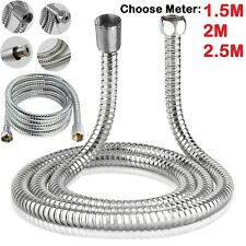 1.5 2M 2.5M Stainless Steel Flexible Bathroom Bath Shower Head Hose Pipe Washers