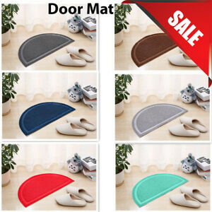 Door Rubber Plain Floor PVC Half Moon Non-Slip durable rubber Pet Mat 36x60cm UK