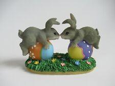 "Charming Tails Fitz & Floyd Figurine 87/424 ""Bunny Love"" 1998 Gc"
