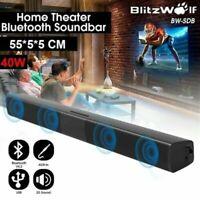 Wireless Sound Bar TV Soundbar Bluetooth 4 Speaker Theater Stereo Subwoofer 20W