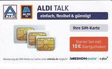 ALDI TALK SIM Karte Starter Set inkl. 10 € Guthaben *NEU&OVP*
