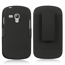 Holster Combo Case Kickstand Belt Clip Cover for Samsung Galaxy S3 Mini I8190N