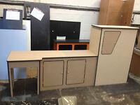 Ford Transit Camper Van Kitchen Unit Pod Cupboard interior LWB Ptop MDF