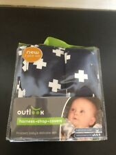 outlook harness strap cover set baby pram toddler fashion blue cross protect diy