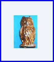 Pin's lapel pin Pins HIBOU Owl  Bird Chouette doré en relief plein