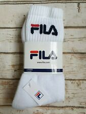 New Fila Men's Logo Top Sports Tennis Socks 3 Pairs Size 39 - 42