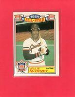 1985 Topps #11 of 22 WILLIE MCCOVEY San Francisco Giants '84 All Star HOF