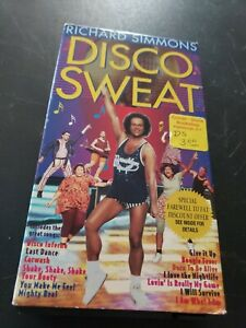 RICHARD SIMMONS DISCO SWEAT Vhs Video Tape 1994 Dance Aerobics Exercise R4S5BE