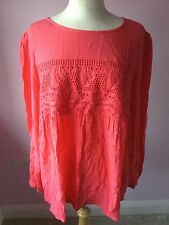 Next Coral Ladies Long Sleeve Top Size 18. Excellent Condition.