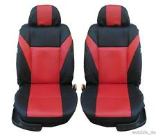 1+1 Car Seat sitzbezüge Seat Covers Faux Leather Red for CITROEN DACIA FIAT