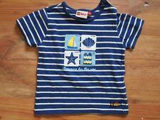 Orig LEGO duplo T-Shirt Gr. 86/1-24 Monate -blau/weiß gestreift sehr gut erhalt.