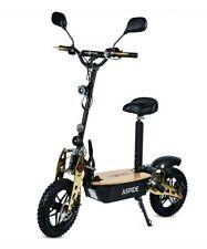 Patinete electrico 2000w scooter sillin plataforma ruedas tacos negro y dorado