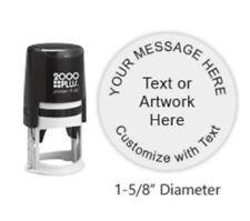 Cosco 2000 Plus Printer R40 Custom Round Text / Logo Self Ink Stamp -  R40