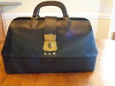 Vintage Small Black Leather Medical Doctor'S Bag
