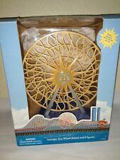 Disney Monorail Playset Attraction sun wheel Paradise Pier w/ 2 figures Iob