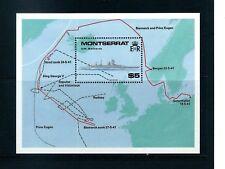 Montserrat - World War 2 Ships Souvenir Sheet MNH
