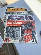 Vintage Mexican Lobby Card Lot (8 )Pieces