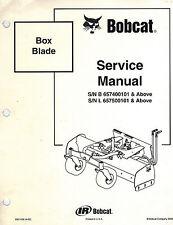 BOBCAT BOX BLADE ATTACHMENTS  SERVICE  MANUAL