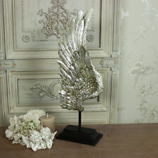 Aile ange argent grand stand ornement shabby vintage chic décoration cadeau