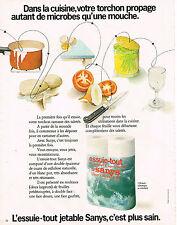PUBLICITE ADVERTISING 035  1973  SANYS  essuie-tout jetable