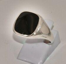 massiv Sterling Silber 925 Siegelring klassischer Herrenring Onyx Stil ca. 10 g