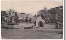 Caernarvonshire; Llandudno, Llanrhos Church PPC  1909 PMK, Tuck Silverette