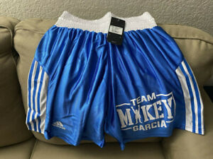 BOXING TRUNKS ADIDAS, WITH MIKEY GARCIA LOGO, SIZE S MENS, VERY RARE TRUNKS.