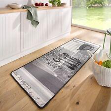 Design Velours Küchenläufer Bon Appetit Grau Weiߟ 67x180 cm