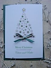 Handmade Personalised Christmas Card Friends Parents Grandparents Sister Brother