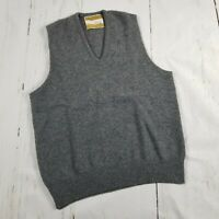 Vintage Jantzen the country squire gray sweater vest v-neck 100% Australian Wool