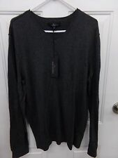 Mens Sz XL Marc Anthony Dark Gray V-Neck Lightweight Cashmere Blend Sweater NEW